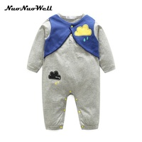 NNW 2017 Autumn Newborn Baby Boy Warm Rompers Clothes Cute Flower Long-sleeved Girls Jumpsuit Infant Toddler Baby Clothing set
