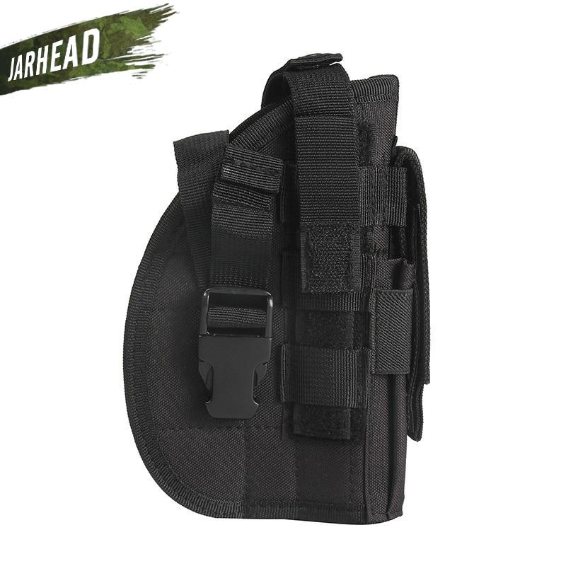 Holster para a Mão Coldres de Liberação Tático Molle Pistol Direita Caça Tiro Rápida Ajustável Correias Rifle Pouch 600d Gun