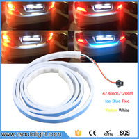 LED Strip Trunk Tail Brake Turn Signal Light Flow Type Ice Blue Red Yellow White Free