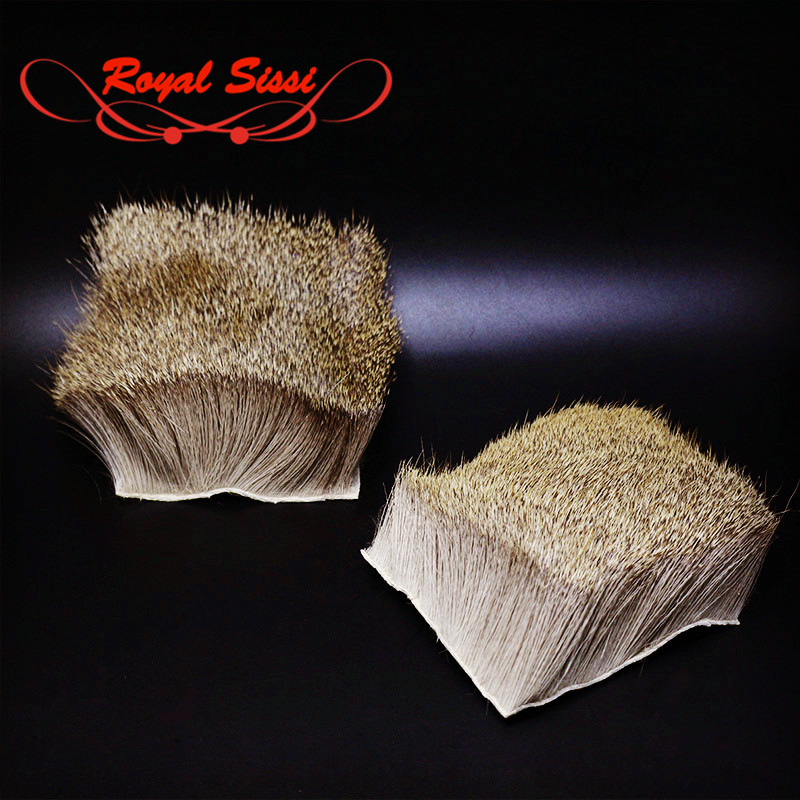 Hot 1 pcs deer body hairs patch with bigger size:8cm*8cm Elk Body Hair short deer hair for fly fishing dry flies tying materials