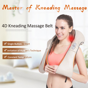 Image 2 - Dropshipping elektryczny masażer shiatsu urządzenie do masażu szyi elektryczny pasek na ramię masaż ciała