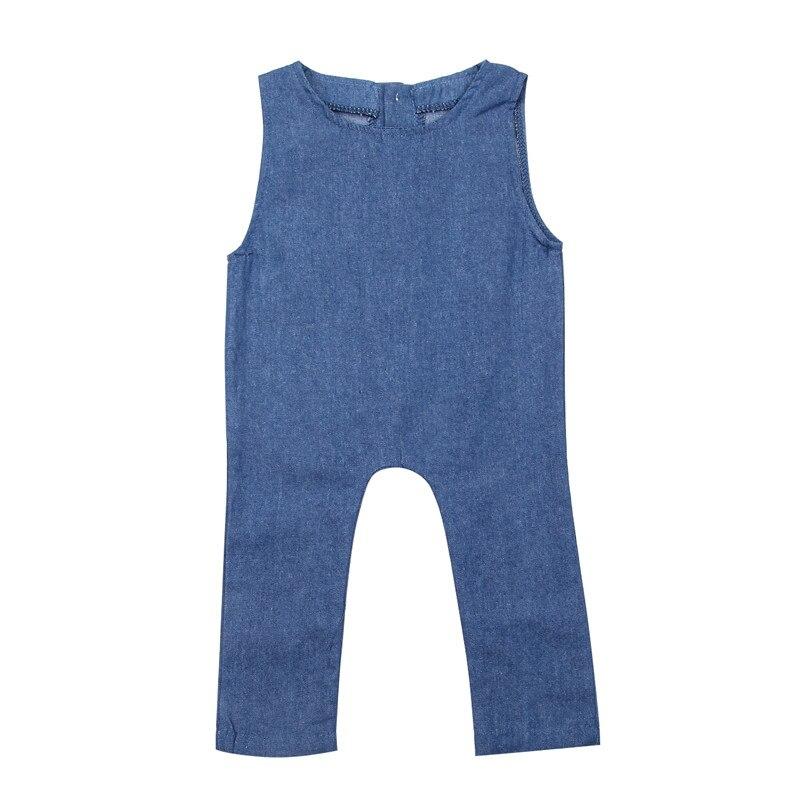 Newborn Baby Boy Girl Sleeveless Bodysuit 2018 New Summer Casual Denim Jumpsuit New Arrival Babygrow Tops Bodysuit Baby Clothing summer new arrival women casual denim