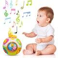 Música Dos Desenhos Animados da criança Crianças Cubo Mágico Bola de Som Com Luz/Luz/Rotação Brinquedos de Aprendizagem Educacional, Mover e Bebê engatinhar Bola