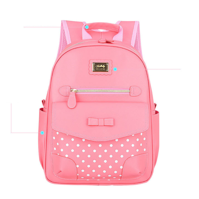 RUIPAI Cute Girl package 1-3-6 Grades Shoulder Bag Students Pack Bow Backpack Korean Version of The Children Protection Back