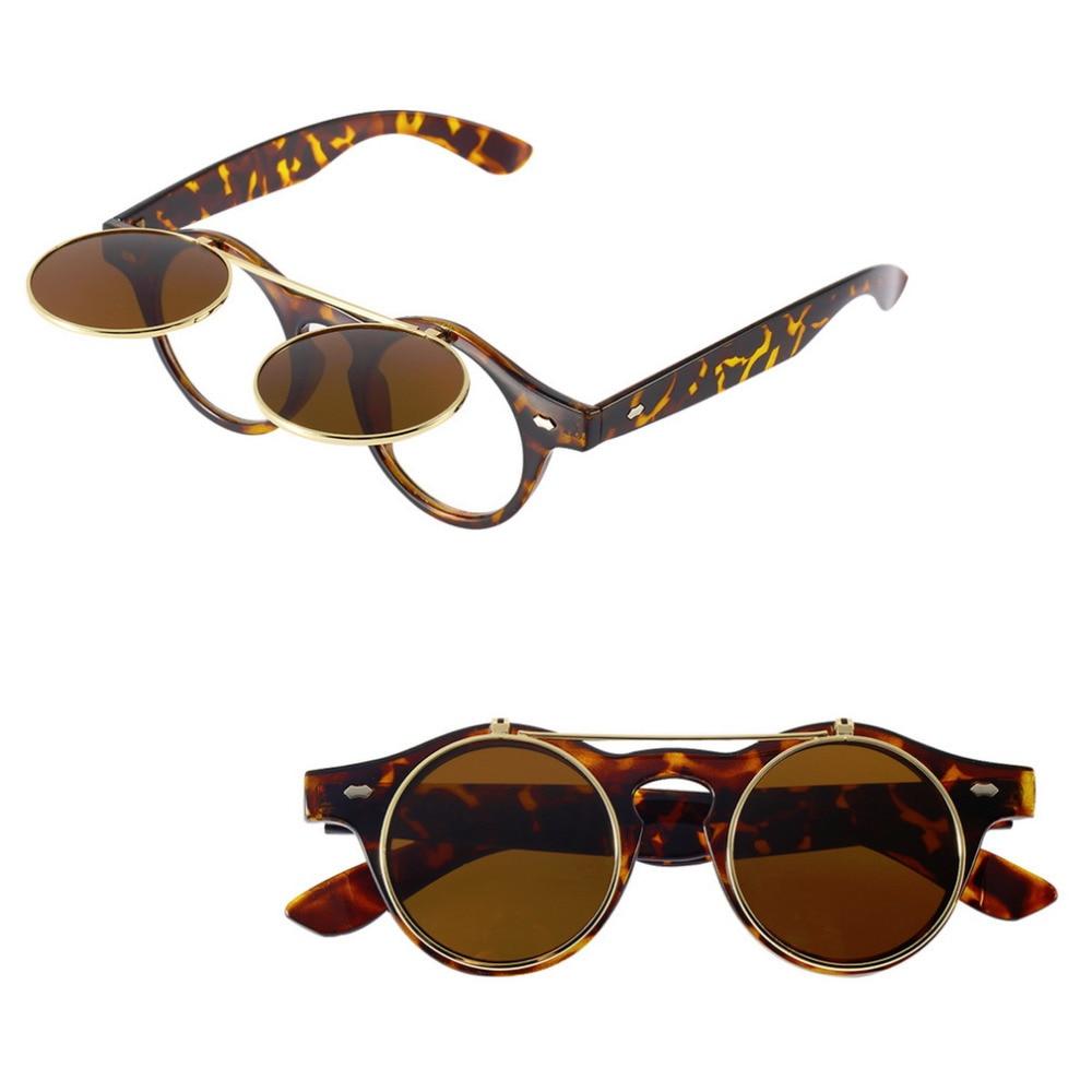 e6cc0f301c Classic Steampunk Goth Glasses Goggles Round Flip Up Sunglasses Retro  Vintage Fashion Accessories Trend Round Eyeglass-in Sunglasses from Apparel  ...