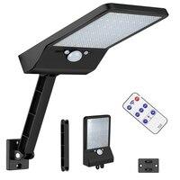 원격 제어 태양 거리 빛 48 LED 800 LM 야외 모션 센서 정원 조명 에너지 Savg 보안 벽 램프 s &