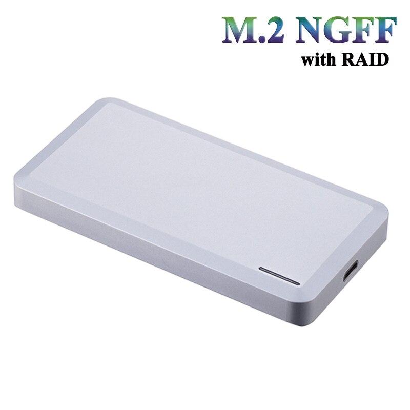 M.2 NGFF USB 3.1 (10 Gbps) B + M keySSD HDD Boîtier externe soutien taille type 2242/2260/2280