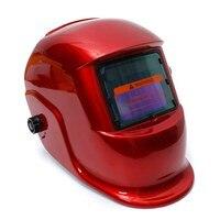 Red Solar Auto Darkening Welders Welding Helmet Mask Tig Mag Grinding Function