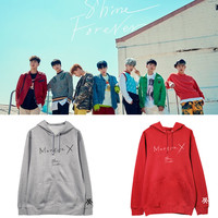 Kpop MONSTA X combination album with the same hoodie spring and autumn coat winter men and women couple shirt