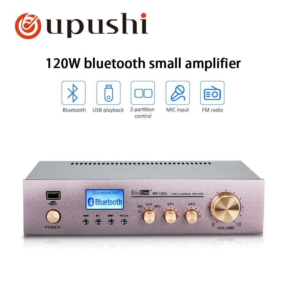 Nett Mp-120u 120 W Hifi Power Verstärker Anzug Für Verschiedene Spannung Eingang Bluetooths Control 2 Kanäle Pa System Professionelle Audiogeräte