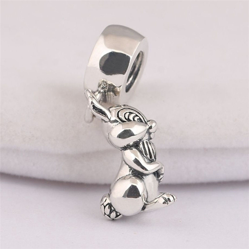 Beads & Jewelry Making Authentic 925 Sterling Silver Animal Pendant Bead Monkey Hanging Charm Fit Original Pandora Bracelet Bangle Women Diy Jewelry Quality First Beads