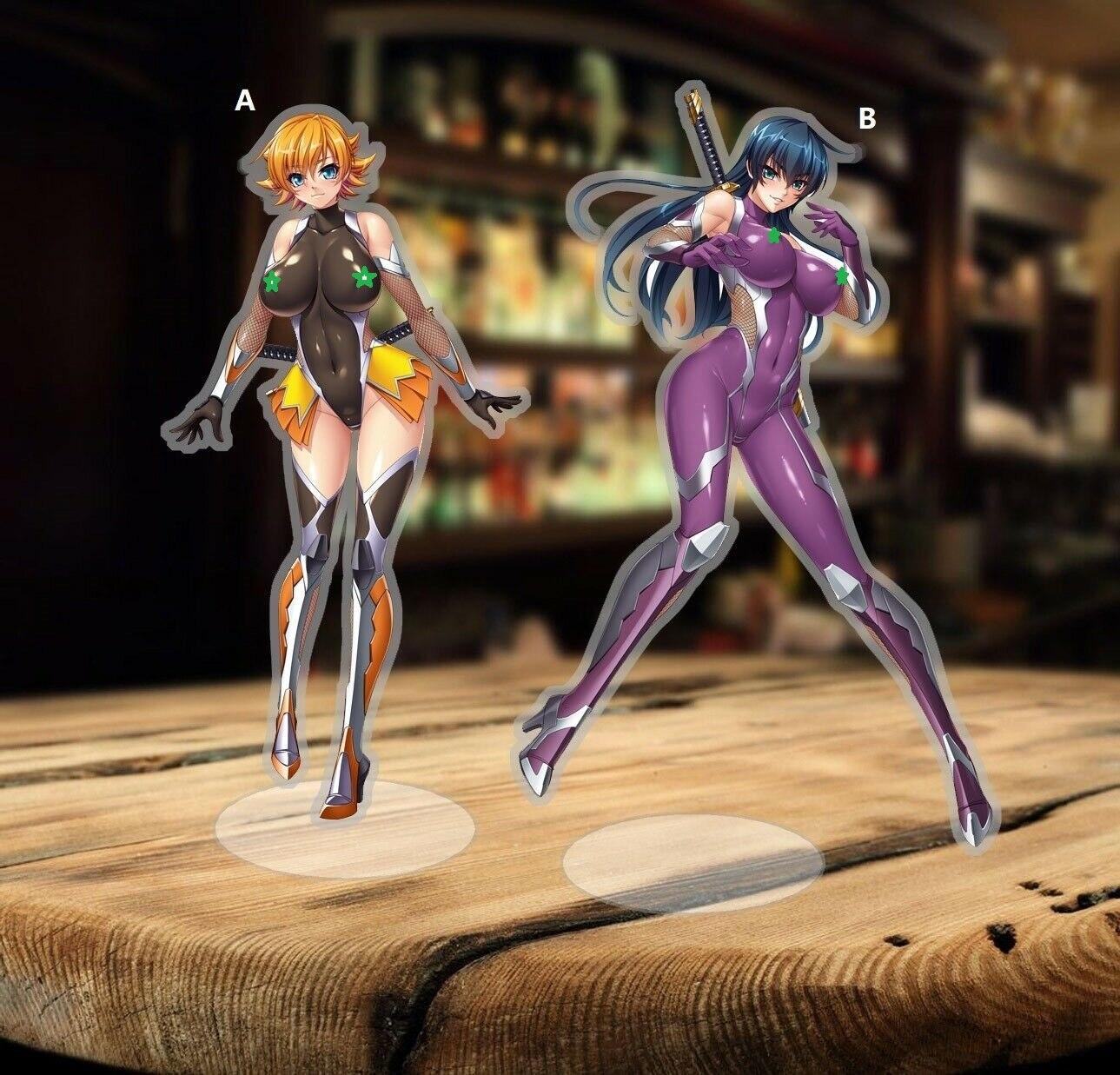 Acrylic Figure Stand Display Anime Otaku Taimanin Asagi Kurodani 15cm