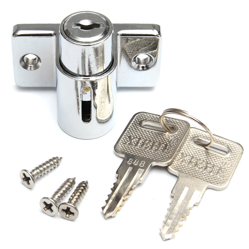 Lowest Price Aluminum Sliding Patio Door Window Bolt Locking Catch Push  Lock Security Child 5x4x4cm Newest