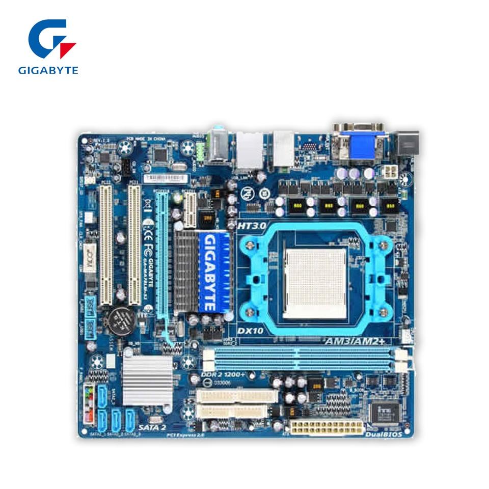 Gigabyte GA-MA78LM-S2 Original Used Desktop Motherboard MA78LM-S2 760G Socket AM2 DDR2 SATA2 USB2.0 Micro ATX original for ga ma78lm s2 desktop motherboard 940pin am2 am3 ddr2 100% tested