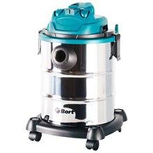 Пылесос для сухой и влажной уборки BSS-1325 (Мощность 1300 Вт, вместимость пылесборника 25 л, длина шланга 1,5 м, функция выдува и сбора жидкости, тканевый фильтр, сетевой кабель - 3,5 м)