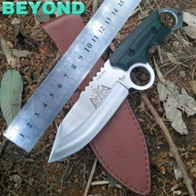 2016 hot D2 steel knife outdoor survival in the wild and practical tool BEYOND  high hardness tactics straight knife