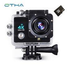 Wi-Fi 4 К действие Камера Full HD 1080 P 60fps 2.0 ЖК-дисплей 170 градусов Водонепроницаемый 30 м наблюдения видеокамера Спортивные Камера