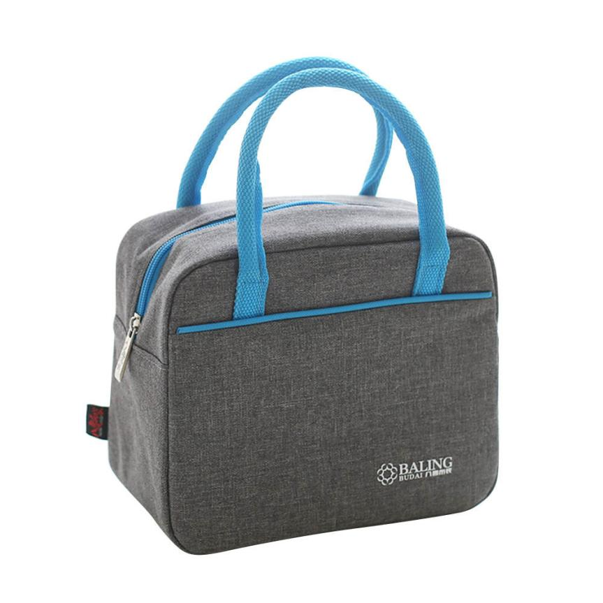 Molave Thermal Insulation Cooler Lunch Bag Picnic Bento Box Fresh Keeping Ice Pack Food Fruit Container Storage gray DEC7