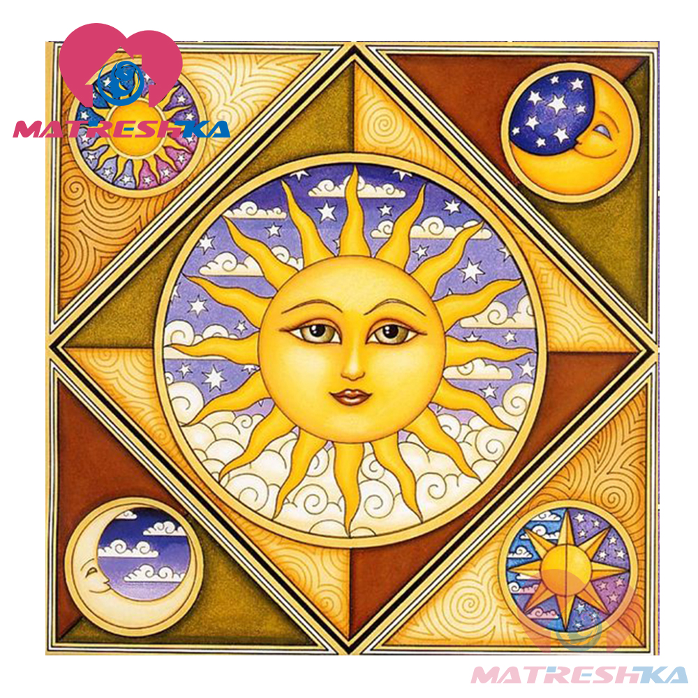 diy 5d diamond embroidery sale picture by rhinestones paintings from crystals sun and moon cartoon home decoration diy paintings in Diamond Painting Cross Stitch from Home Garden