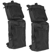 2 шт 600D черный Водонепроницаемый брюки-карго хранения охотничьего для Fender сбоку сумки для ATV UTV 4-Уилер Универсальный мотоциклетный брызговик