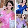 Pijama Pijama noite funda gelo no verão das mulheres Coreanas sexy rendas de casa 2017 Primavera