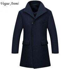 Vogue Anmi. Новый Человек Длинный плащ шерстяное пальто Зима peacoat мужская шерстяное Пальто мужские пальто мужские пальто мужской одежды, М-3XL, 1668(China (Mainland))