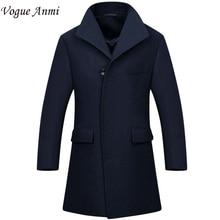 Vogue Anmi. Новый Человек Длинный плащ шерстяное пальто Зима peacoat мужская шерстяное Пальто мужские пальто мужские пальто мужской одежды, М-3XL, 1668