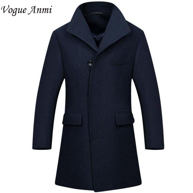 Vogue Anmi.New Man Long trench coat wool coat Winter peacoat Men's wool Coat mens overcoat men's coats male clothing,M-3XL, 1668