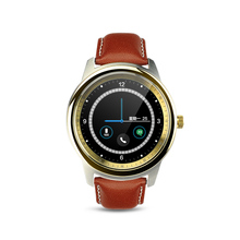 DM365 Bluetooth 4.0 Smart Watch 360*360 IPS full view & Leather Strap Pedometer Sleep Monitor Support Hebrew Turkish