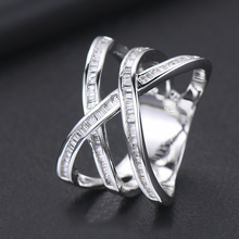 SISCATHY Famous Brand Trendy Twist Cubic Zircon Rings for Women Wedding Eternity Bridal Engagement Jewelry Finger