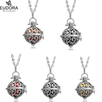 Fashion Pendant Jewelry Vintage Copper Locket Pendant Chime Ball Guardian Angel Chain Mexican Bola Necklace Pregnant