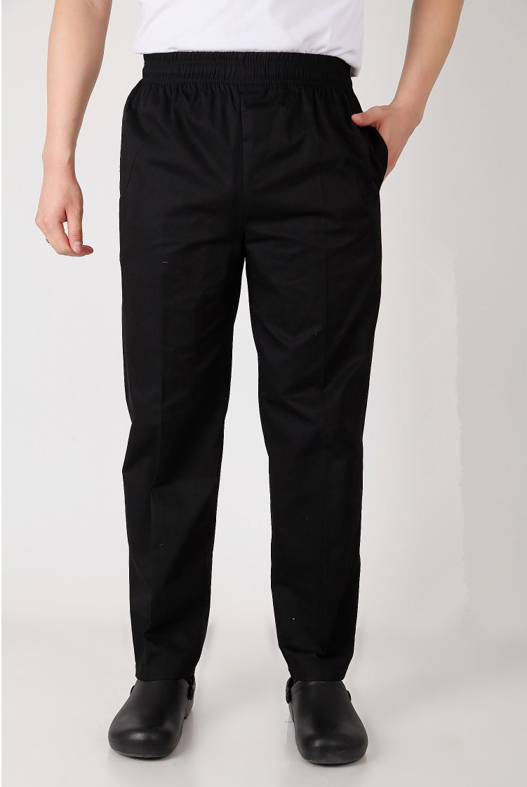 b9796a75c Good New style black Chef Uniform Restaurant Kitchen Trouser Chef Pants  Elastic Waist Bottoms Food Service Pants Mens Work Wear offers where can We  purchase ...