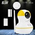 BW GSM Assaltante Sem Fio Wi-fi HD 720 P Câmera IP Automático motion & sensor da porta + detector de fumaça de alarme de segurança de vigilância CCTV