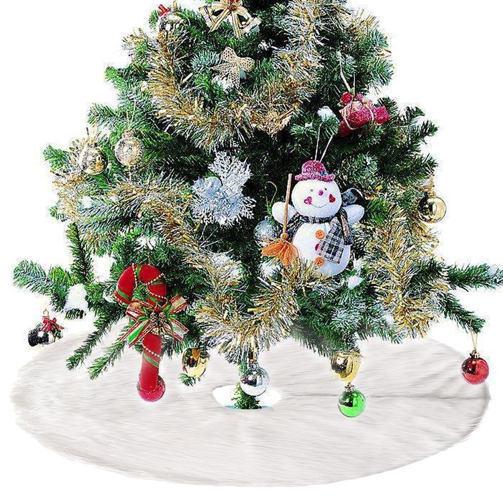 Christmas Tree Merry Christmas: NEW Snow Plush Christmas Tree Skirt Base Floor Mat Cover