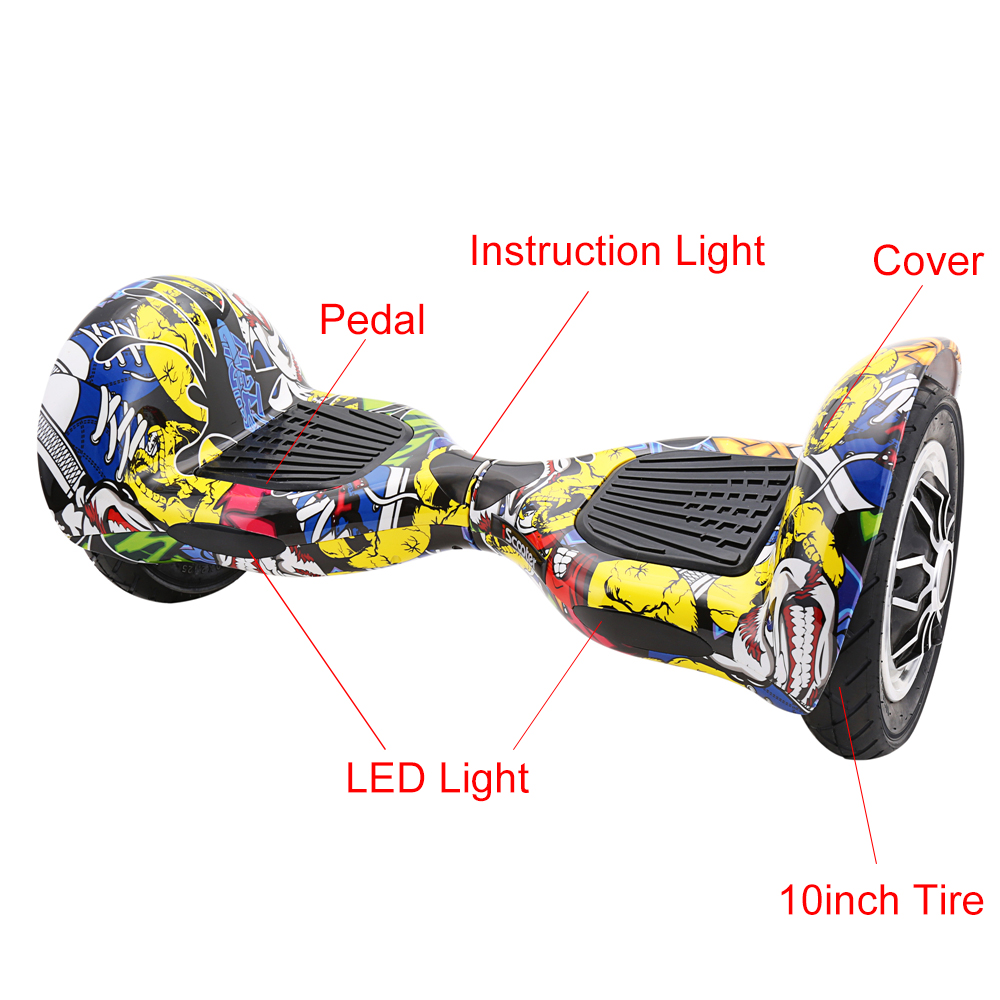 10inch Two Wheels Hoverboard or Electric Skateboard with Smart Balance UL2272 6