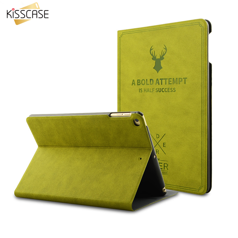 KISSCASE Smart Wake Leather Case For iPad Pro 9.7 for iPad Air 1 2 Luxury Cover Flip Stand Protective Case For iPad Mini 1 2 3 4 kisscase smart sleep flip stand tablet case cover for ipad mini 1 2 3 luxury leather tablet cover cases for ipad mini 1 2 3 7 9