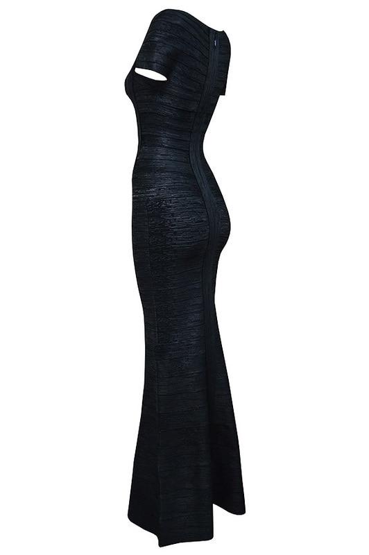 Robe En 2015 Foiled Bandage Nouveau Soirée Chapeau Sexy Noir Gros Noir Manches gris Or Femmes Déjoué xxrSOFq