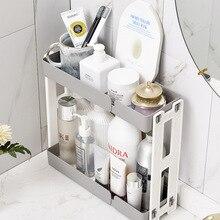 ABS+PP Makeup Organizer Two-Layers Toiletries Box Cosmetic Organizer Makeup Box Lipstick