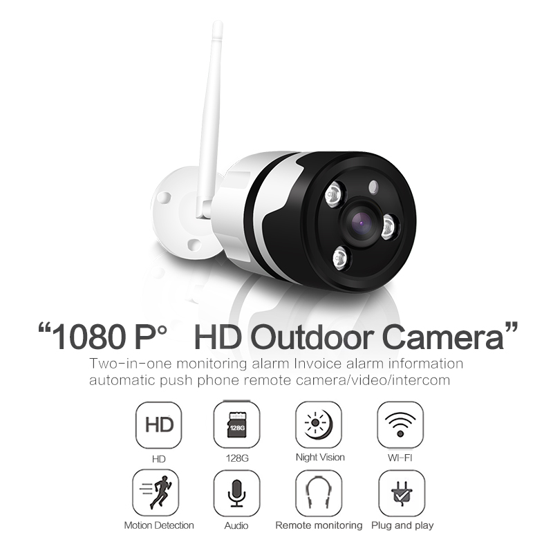 2MP 1080P HD Outdoor Wifi Camera Waterproof IP66 Two in One Support Motion detection and IR Night vision SD card maximum 128G2MP 1080P HD Outdoor Wifi Camera Waterproof IP66 Two in One Support Motion detection and IR Night vision SD card maximum 128G