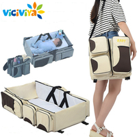 Multi Function Foldable Portable Portable Crib Bed Bed Large Capacity Mummy Bag Shoulder Baby Bag Travel