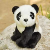 18cm Mini Soft Lifelike Panda Plush Toys Cuddly Realistic Wild Animal Panda Stuffed Toy Christmas Gifts For Kids