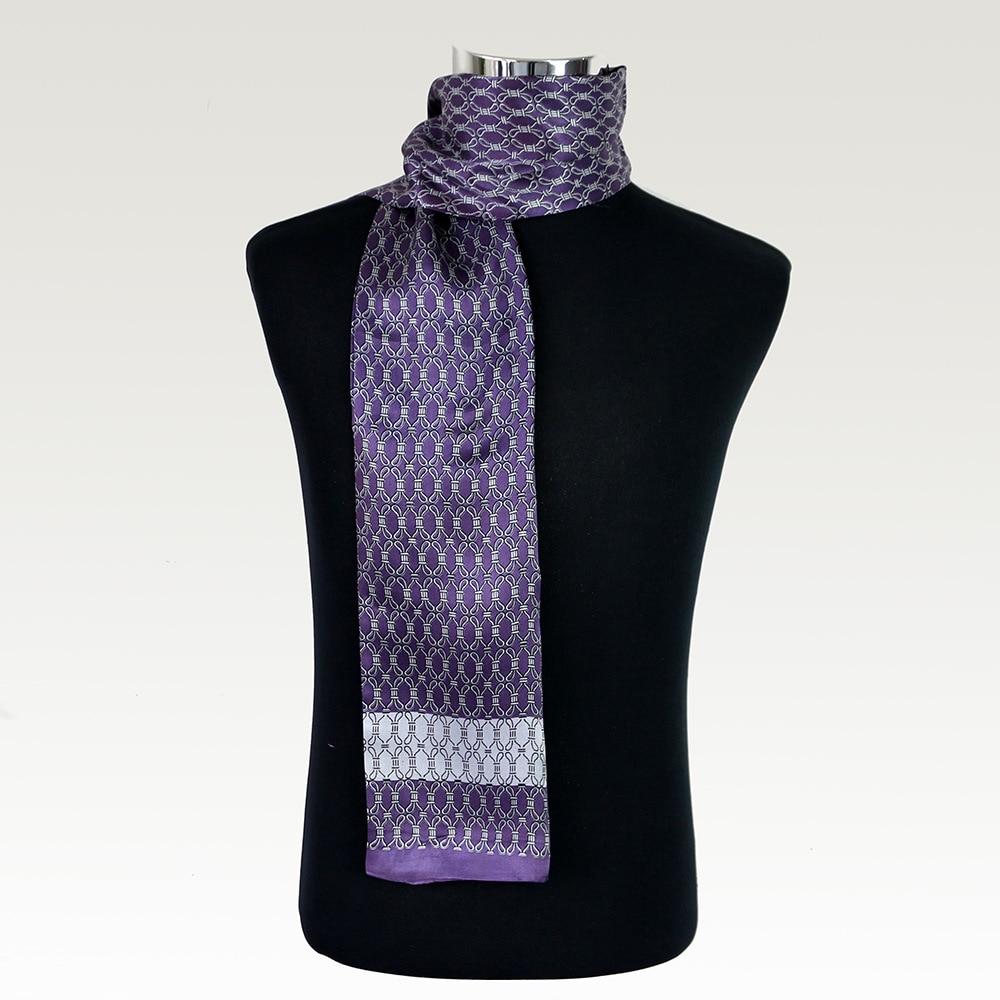 Accessories Long Scarves Cravat Male Double Layer Silk Satin