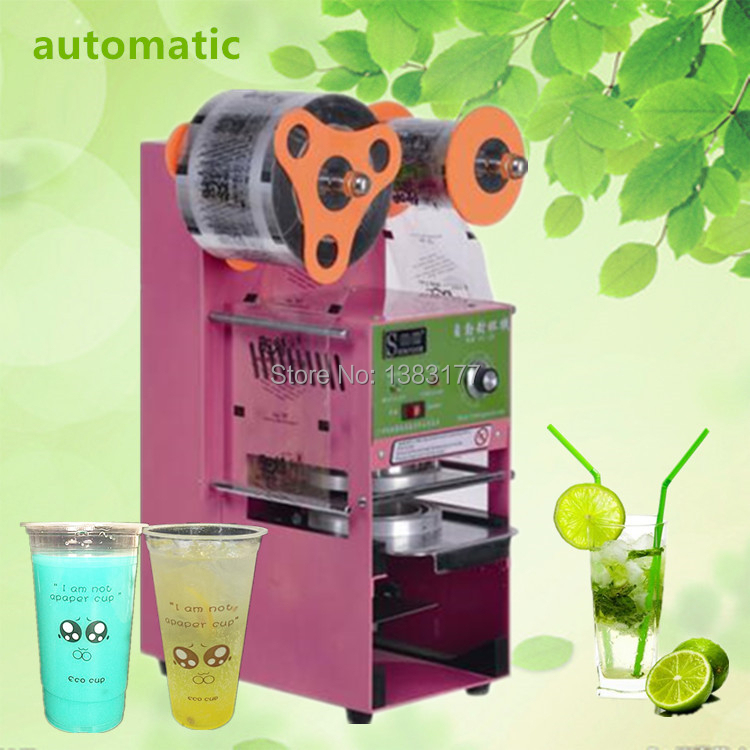 18 New products commercial automatic tea shop commercial drink milk tea sealing machine electric juicer cup sealing machine automatic cup sealing machine commercial plastic milk tea cup sealer portable electric drinks sealing machine m10