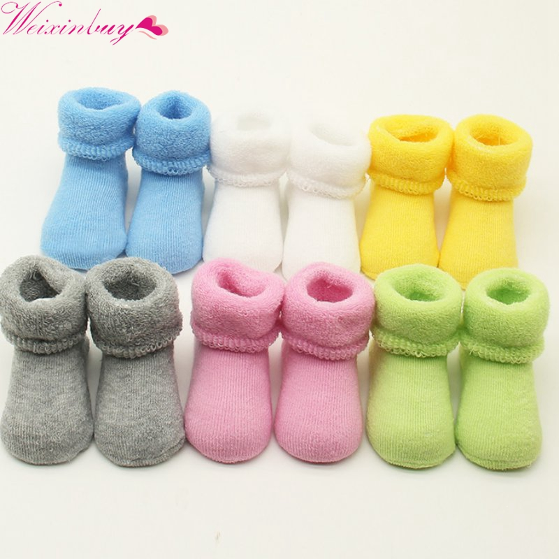 0-2 Y Baby Girls Boys Newborn Infant Winter Warm Boots Toddler Kids Soft Cotton Socks Booties