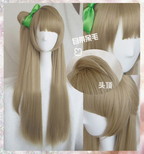 Anime LoveLive! Love Live Kotori Minami Wigs Styled Heat Resistant Sythentic Hair Cosplay Wig + Green Bowknot Hairpin
