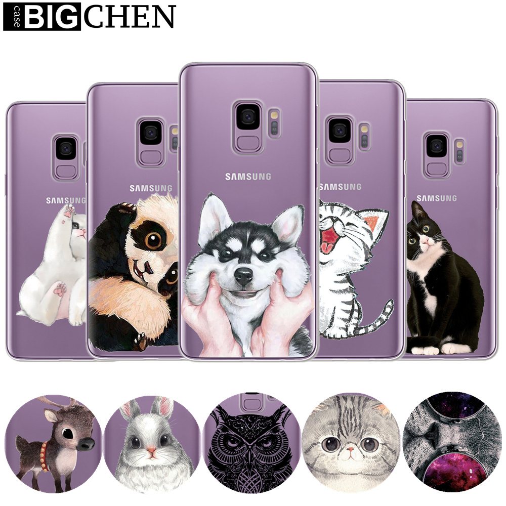 Cute Cartoon Case For Coque Samsung Galaxy S9 Cases Soft TPU Silicone Case For Samsung S9 Plus Galaxy S 9 Phone Back Cover