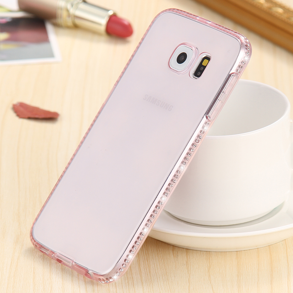 huge selection of 1811e 62ff1 US $1.99 20% OFF|KISSCASE Bling Diamond Case Voor Samsung Galaxy S7 Rand  Zachte Silicon Rubber Girly Luxe Cover Voor Samsung S8 Plus Coque Fundas in  ...