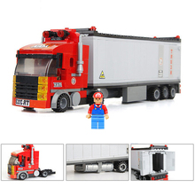city hundred changes container car educational toys 2015 building blocks set Compatible with Lego boys Designers 003057