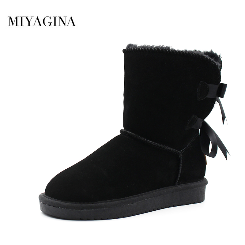 Hot Sale Fashion 100% genuine leather women snow boots winter warm women boots Free Shipping free shipping hot sale 100