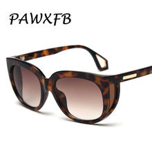 PAWXFB 2019 Big Frame Sunglasses Women Fashion Oversized Square Sun Glasses for Female Vintage Shades UV400
